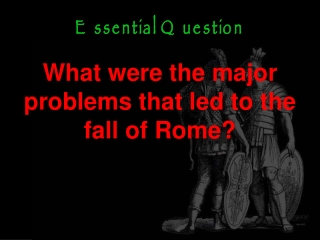 Death of the Republic  Birth an Empire  Decline of Rome