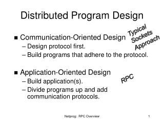 Distributed Program Design