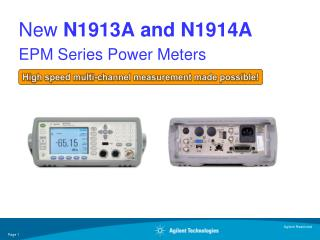 New  N1913A and N1914A EPM Series Power Meters