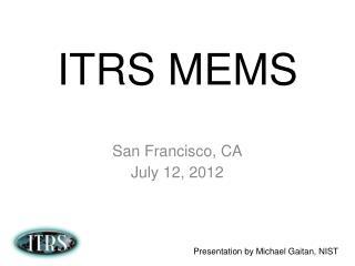 ITRS MEMS