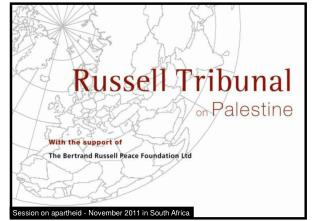 Session on apartheid - November 2011 in South Africa