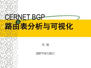 CERNET BGP  路由表分析与可视化