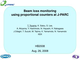 Beam loss monitoring  using proportional counters at J-PARC
