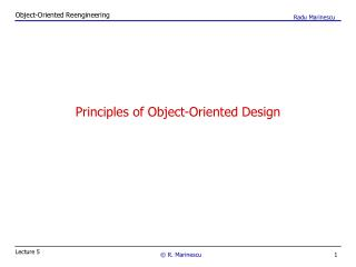 Principles of Object-Oriented Design