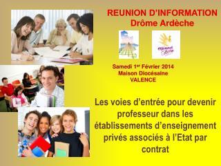 REUNION D�INFORMATION Dr�me Ard�che