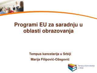 Programi EU za saradnju u oblasti obrazovanja