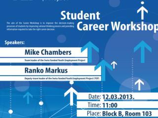 STUDENTS' CAREER WORKSHOP Mike Chambers  Ranko Markuš