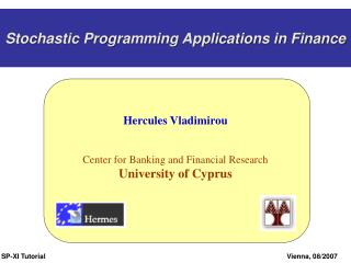 Stochastic Programming Applications in Finance