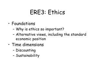 ERE3: Ethics