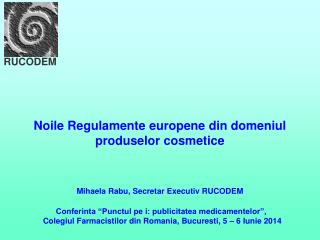 Noile Regulamente europene din domeniul produselor cosmetice
