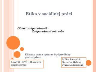 Etika v sociálnej práci