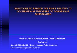 National Research Institute for Labour Protection Bucharest