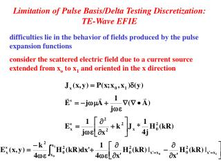 Limitation of Pulse Basis/Delta Testing Discretization:  TE-Wave EFIE