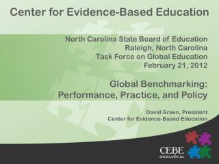 Center for Evidence-Based Education