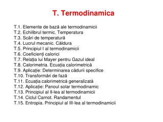 T. Termodinamica