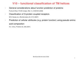 V10  –  functional classification of TM helices