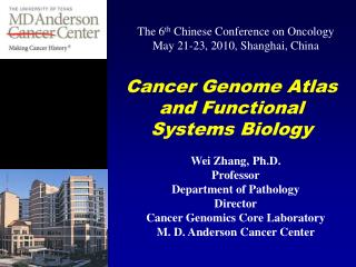 Cancer Genome Atlas and Functional Systems Biology