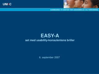 EASY-A set med usability-konsulentens briller