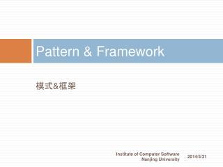 Pattern  Framework