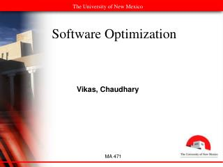 Software Optimization