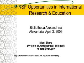 NSF Opportunities in International Research & Education