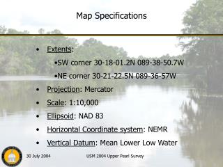 Map Specifications