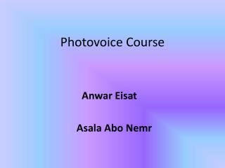 Photovoice  Course