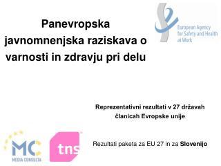 Panevropska javnomnenjska raziskava o  varnosti in zdravju pri delu