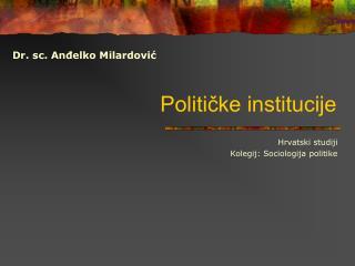 Političke institucije