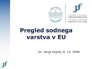 Pregled sodnega varstva v EU