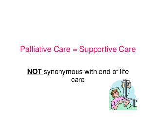 Palliative Care = Supportive Care