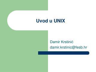 Uvod u UNIX