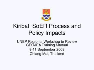 Kiribati SoER Process and Policy Impacts
