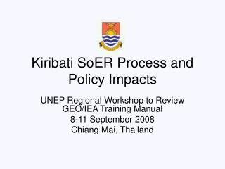 Kiribati SoER Process and Policy Impacts