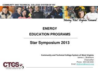 ENERGY EDUCATION PROGRAMS Star Symposium 2013