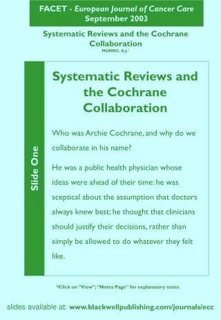 FACET -  European Journal of Cancer Care September 2003