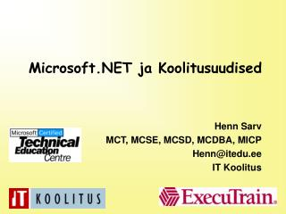 Microsoft.NET ja Koolitusuudised