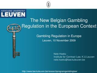 Nele Hoekx Institute for Contract Law, K.U.Leuven nele.hoekx@law.kuleuven.be