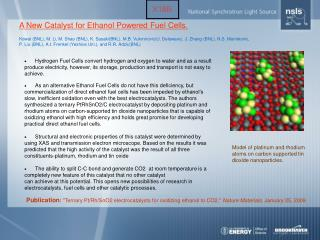 A New Catalyst for Ethanol Powered Fuel Cells.