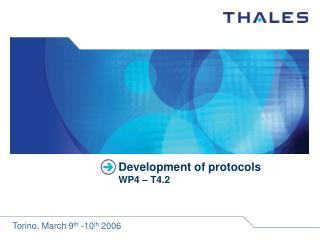 Development of protocols WP4 – T4.2