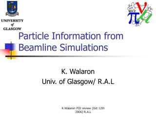 Particle Information from Beamline Simulations