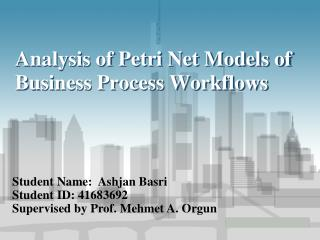 Analysis of Petri Net Models of Business Process Workflows