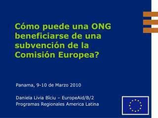 Cómo puede una ONG beneficiarse de una subvención de la  Comisión Europea?