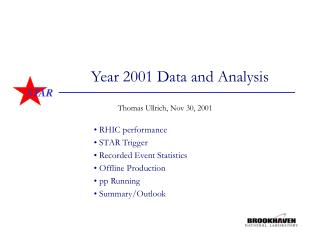 Year 2001 Data and Analysis