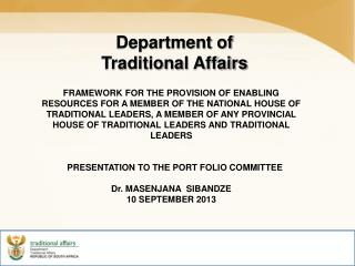Department of Traditional Affairs