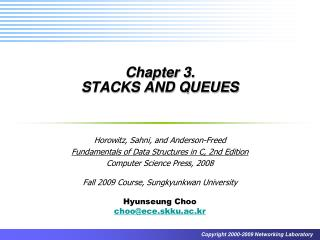 Chapter 3.  STACKS AND QUEUES