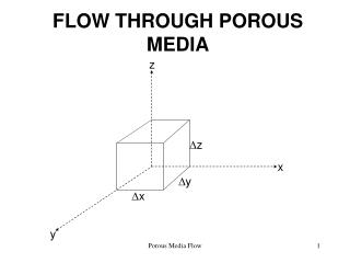 FLOW THROUGH POROUS MEDIA