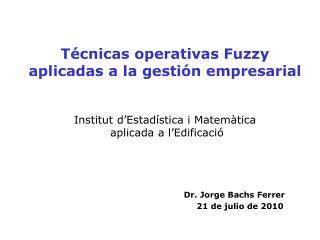 Dr. Jorge Bachs Ferrer 21 de julio de 2010