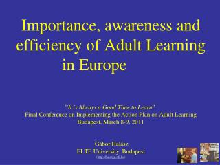 Why adult learning is important?