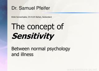Dr. Samuel Pfeifer